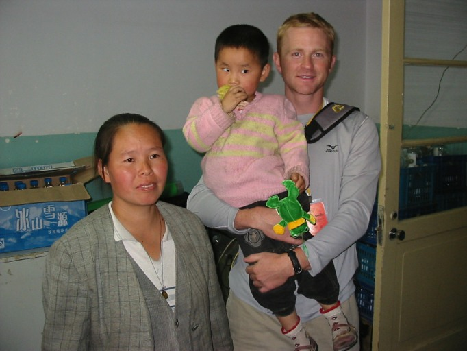 Dr. Griner with child and mother